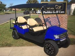lifted cars 2013 club car precedent lifted electric golf car blue alpha body
