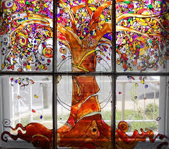 image result for painted glass windows