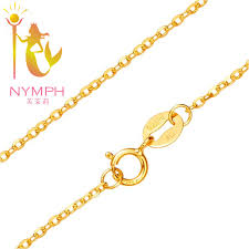 necklace with price images Nymph genuine 18k white yellow rose gold chain cost price sale jpg