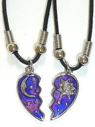star friendship necklace images Best friend half heart mood sun moon star pendants 2 necklace bff jpg