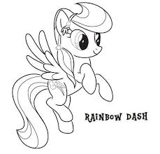 my little pony coloring pages of rainbow dash my little pony coloring pages pony