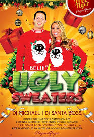download ugly sweater party flyer free psd template