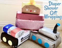 Baby Shower Diaper Ideas Creative Diaper Shower Gift Wrapping Ideas U2013 Fun Yum U0026 Frills