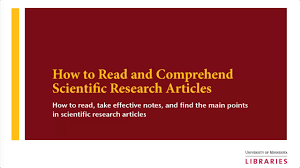 Articles How To Read And Comprehend Scientific Research Articles Youtube