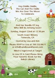 nursery rhyme baby shower nursery rhyme baby shower invitations candles and favors
