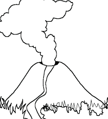coloring pages volcano volcano coloring pages volcano with magma eruption coloring page