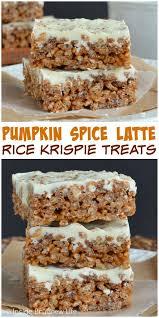 Rice Crispy Treat Pumpkins Pumpkin Spice Latte Krispie Treats