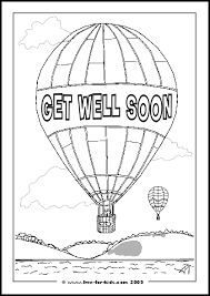 get well soon for children printable get well soon colouring pages