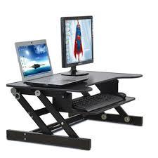easyup height adjustable sit stand desk riser foldable laptop desk