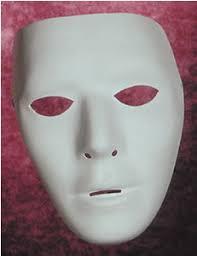 blank masks pjs trick shop masks blank white mask
