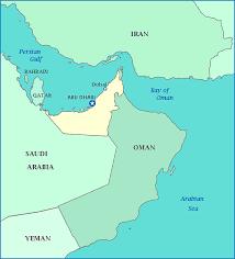 map arab map of united arab emirates