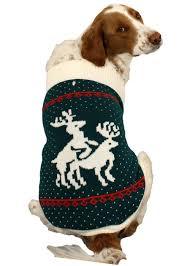 pet sweaters reindeer sweater green festified