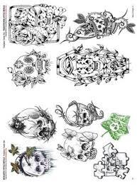 skulls flash booklet flash sets tattooing books