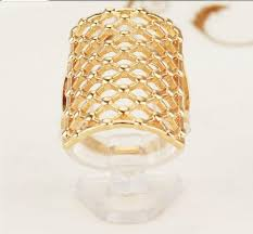 long name rings images Best exaggerated 18 k gold plated hollow out net long finger rings jpg
