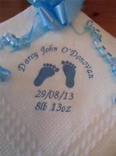 Christening Blanket Personalized Baby Shawl Blanket Ebay