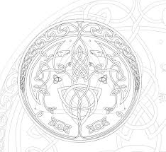 Celtic Style Mandala By Simis Jpg 1181 1088 Pagan Colouring