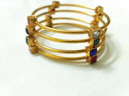 multi color stone bracelet images Multi color stone bangles casual wear set of 4 vasthra jewels jpg