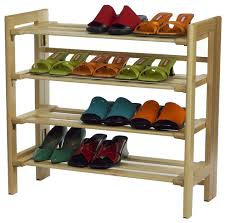 Shoe Rack by Winsome Wood 4 Tier Shoe Rack With Finish X 82218