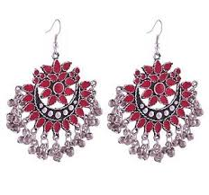 stylish earrings fashion oxidised silver afghani jewellery stylish earrings for