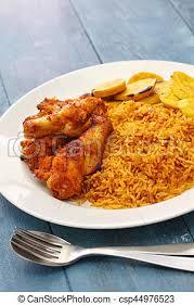 cuisine africaine poulet cuisine riz ouest jollof plantain africaine poulet photo
