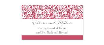 wedding registry travel registry inserts for wedding invitations wedding registry card