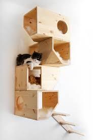 Modern Cat Tree Geometrical Wooden Cat Tree U2013 Fubiz Media