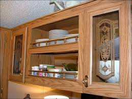 Cabinet Door Glass Inserts Kitchen Wall Display Cabinet With Glass Doors Corner Glass
