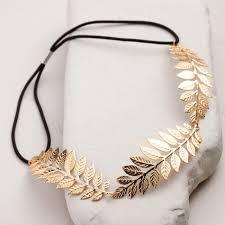 gold headband gold leaves headband world market