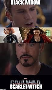 Black Widow Meme - marvel civil war meme imgflip