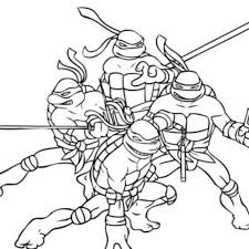 teenage mutant ninja turtles kids coloring free download