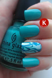 china glaze for audrey with a water marble accent nail kerruticles