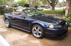 01 mustang convertible top true blue 2001 ford mustang svt cobra convertible