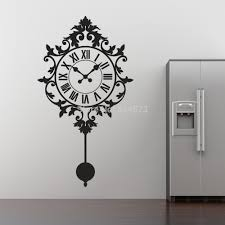 wall art silhouette promotion shop for promotional vintage clock silhouette wall art stickers decal home diy decoration removable room decor
