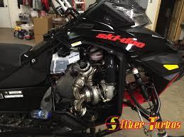 skidoo e tec turbo kit silber turbo