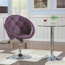 Tufted Swivel Chair Dining Chairs And Bar Stools Contemporary Round Tufted Purple