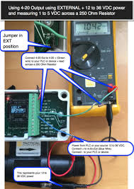 4 20 ma wiring and connection instructions forthermal mass flow