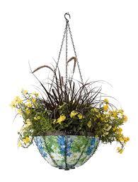 hanging art basket flower basket buy from gardener u0027s supply
