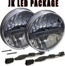 Jk Led Fog Lights Peterson Jeep Wrangler Jk Led Headlight Conversion Kit Peterson
