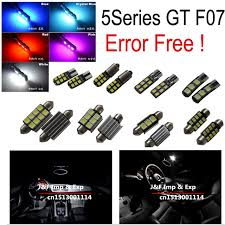 gt cus map 15pc canbus no error f07 led interior dome map light kit for f07