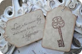 wedding quotes key quote skeleton key wedding favor tags 10 wedding