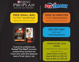 free full sized bag of purina pro plan pet food and more free