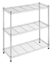 Wire Storage Unit Amazon Com Whitmor Supreme Adjustable 3 Tier Shelving Chrome