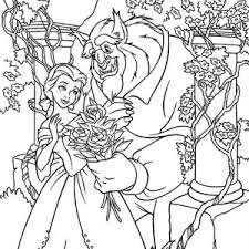 belle potts beast picnic coloring belle