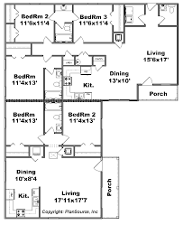corner lot duplex plans duplex plan j1010 12d plansource inc