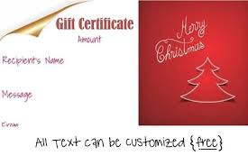 printable christmas gift vouchers free editable christmas gift certificate template 23 designs