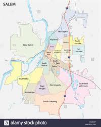 Neighborhood Map Salem Oregon Road And Neighborhood Map Stock Vector Art