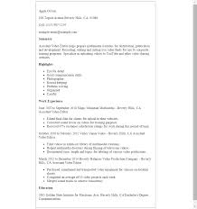 Resume Samples Youtube by Video Editor Resume Sample Resume For Your Job Application