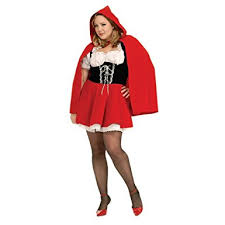 amazon com secret wishes full figure red riding hood costume