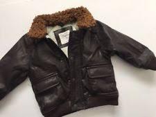 Boys Leather Bomber Jacket Faux Leather All Seasons Newborn 5t For Boys Ebay