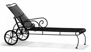 Wrought Iron Chaise Lounge Wrought Iron Patio Furniture